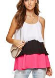 Color Block Tiered Tank