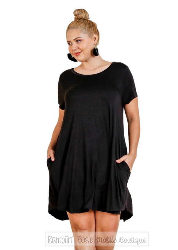 Essential Short Sleeve T-Shirt Dress - Plus