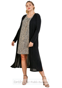 Lightweight Long Cardigan - Plus