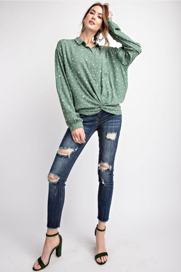 Distressed Ankle Skinny Jean