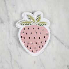 Nosy Little Strawberry Sticker