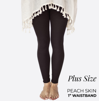 Peach Skin Leggings - Plus