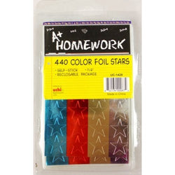 Color Foil Stars 440 Count 1/2 Inch  UC-1428