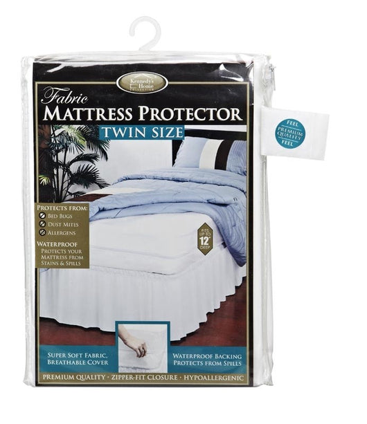 Fabric Zippered Mattress Cover Heavy Duty Twin Size