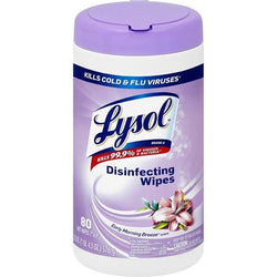 Lysol Disinfecting Wipes, Early Morning Breeze 80 Count
