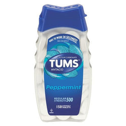 TUMS Regular Strength 500MG Peppermint Antacid Tablets 150 Count