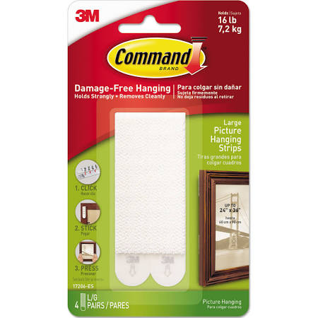 Command Large Picture Hanging Strips 16LBS 4 Pack