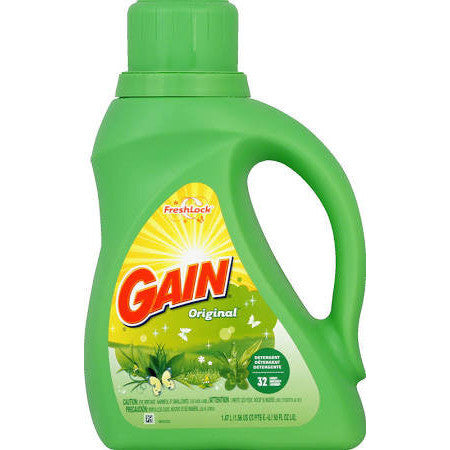 Gain Laundry Detergent Liquid Original Fresh 50 OZ 32 Loads