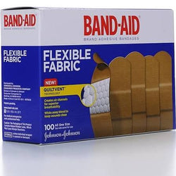 Band Aid Adhesive Bandages, Flexible Fabric All One Size 100 Count