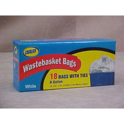 Wastebasket 8 Gallon Garbage Bags 18 Count With Ties