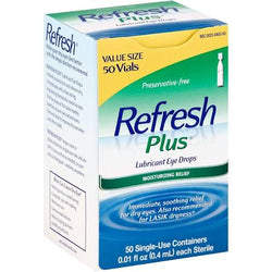 Refresh Plus Lubricant Single-Use Eye Drops 50 Count 0.01 fl oz vials