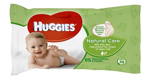 Huggies Natural Baby Wipes 56 Count