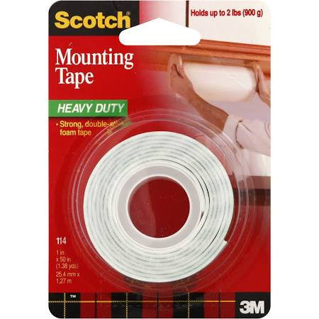 3M Scotch Mounting Tape Heavy Duty, 1