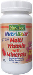 Navitco Kosher NutriBear Multi Vitamin With Minerals Chewable 60 Jelly Bears
