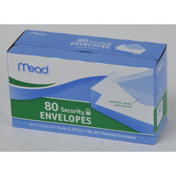 Mead Security Envelope 80 Count 6 1/2 x 3. 5/8