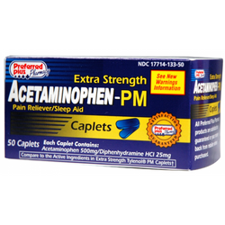 Acetaminophen PM Extra Strength Caplets 50 Count