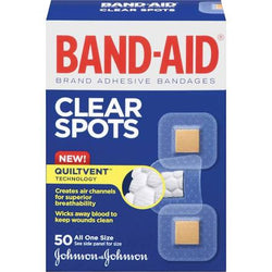 BAND-AID COMFORT-FLEX Clear Spots Adhesive Bandages 50 Count