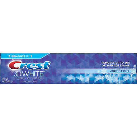 Crest 3D White Arctic Fresh Whitening Toothpaste Icy Cool Mint 6.4 OZ