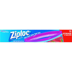 Ziploc Storage Bags Multi-Purpose 2 Gallon Bags 12 count