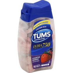 Tums Antacid Extra Strength 750MG Assorted Berries Tablets 96 Count
