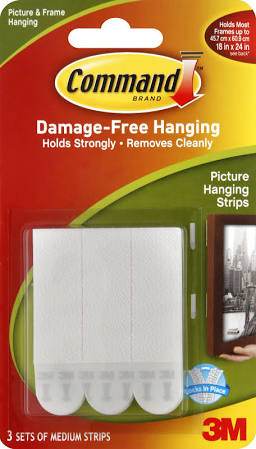 Command Picture Hanging Strips, Medium 3 Sets 9LBS