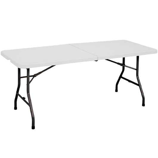 6 Foot Fold In Half White Plastic Folding Table