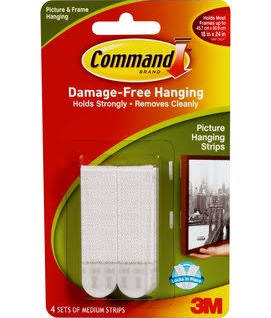 Command Picture Hanging Strips 4 Pack Medium White 12LBS