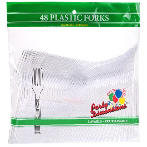 Party Dimensions Clear Forks 48 Count