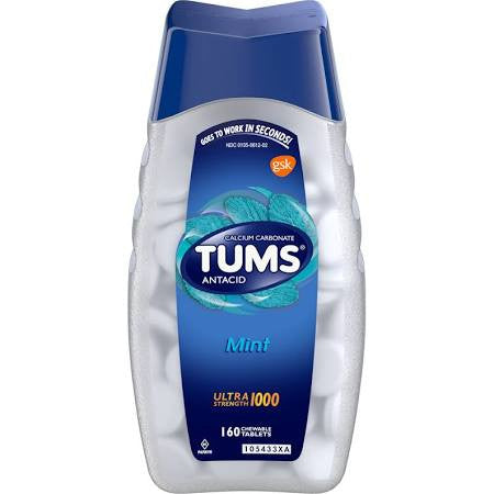 Tums Ultra Strength 1000MG Antacid Mint Tablets 160 Count