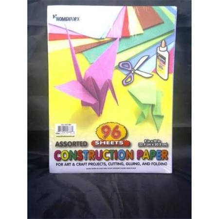 Construction Paper 96 Sheets - 9 in. x 12 in.