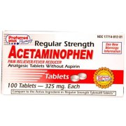 Acetaminophen Regular Strength 325mg tablets 100 Count