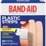 Band-Aid Adhesive Bandages, Plastic Strips  60 Count