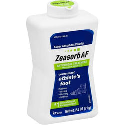 Zeasorb Antifungal Treatment Athlete's Foot Powder 2.5 OZ