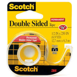 3M Scotch Double Sided Tape, 1/2 in x 250 in