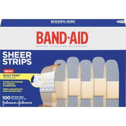 BAND-AID Sheer Strips Adhesive Bandages 100 Count