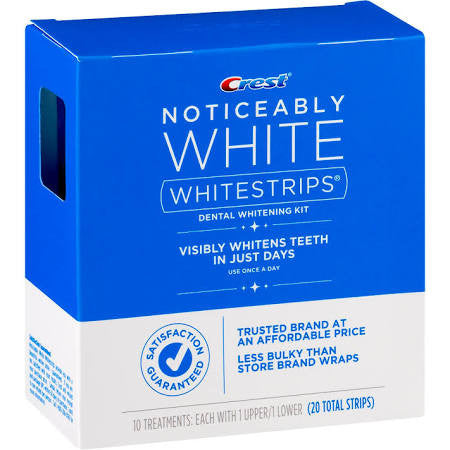 Crest Noticeably White Dental Whitening Kit Whitestrips 10 Count