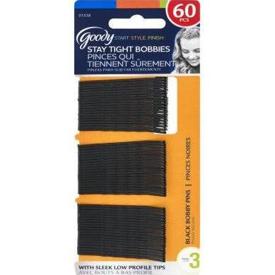 Goody Black Bobby Pins 60 Count