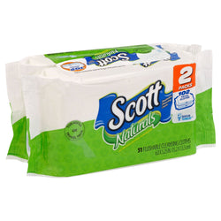 Scott Naturals Flushable Wipes Refill 102 Count