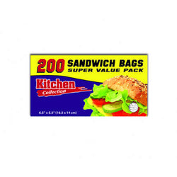Sandwich Storage Bags 200 Count