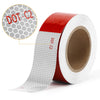 "Kohree 2""x30ft Reflective Safety Tape, DOT C2 Red White Waterproof Reflector Tape for Trailers, RV, Camper, Boat"