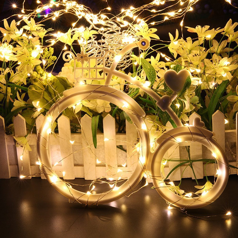 ... Kohree 8 Pack LED String Lights Copper Wire Lights, Battery Operated  Starry Fairy Lights, ...