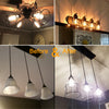 Open Style Steel Bulb Guard, Clamp On Metal Lamp Cage For Hanging Pendant Lights and Lamp Holders