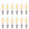 Kohree E12 Edison Bulb LED Candelabra Bulb Chandelier Bulb C35 Candle Light Bulb 40W Equivalent, 2700K Warm White, ETL Listed Non-Dimmable (Pack of 12)