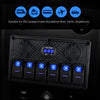 Kohree 6/8 Gang Marine Boat Rocker Switch Panel, Waterproof RV Led Switch Panel Digital Voltmeter - kohree