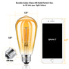 Kohree Vintage Led Edison Bulb 6W Dimmable Filament Light Bulb, E26 2300K Amber Warm White Glow, 60W Equivalent, Squirrel Cage Filament Antique Style LED Edison