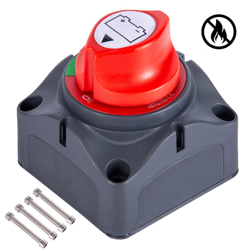 Kohree Waterproof 12V-48V On Off Battery Isolator Master Disconnect Switch with 4 Mounting Bolts - kohree