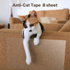 Kohree 8pcs Clear Double-Sided Anti Cat Scratch Tapes 17 Inches L x 12 Inches W Furniture Protector - kohree