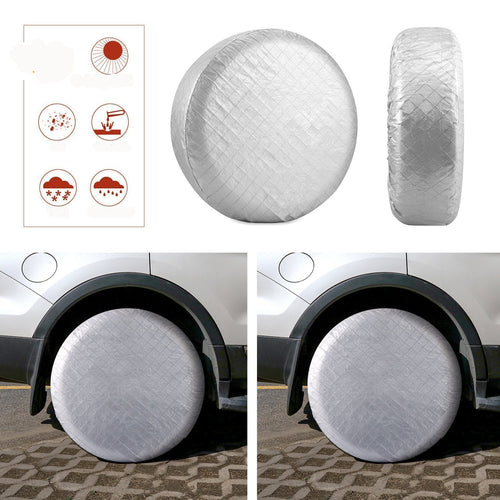Kohree Tire Covers Tire Protectors RV Wheel Motorhome Wheel Covers Sun Protector Waterproof Aluminum Film, Cotton Lining Fits 30