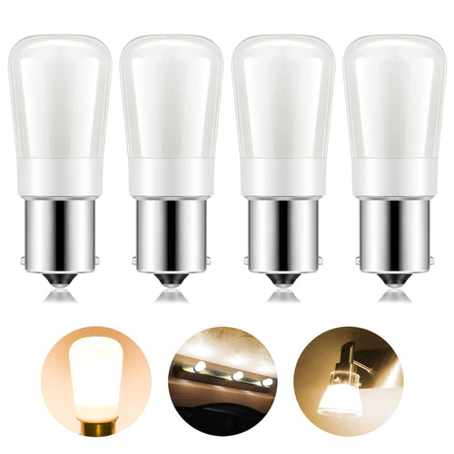 Kohree 4 Packs 1156 Vanity Light Bulb Replacement 20-99/1141/BA15S 12V or 24V LED Bulb(Warm White) - kohree