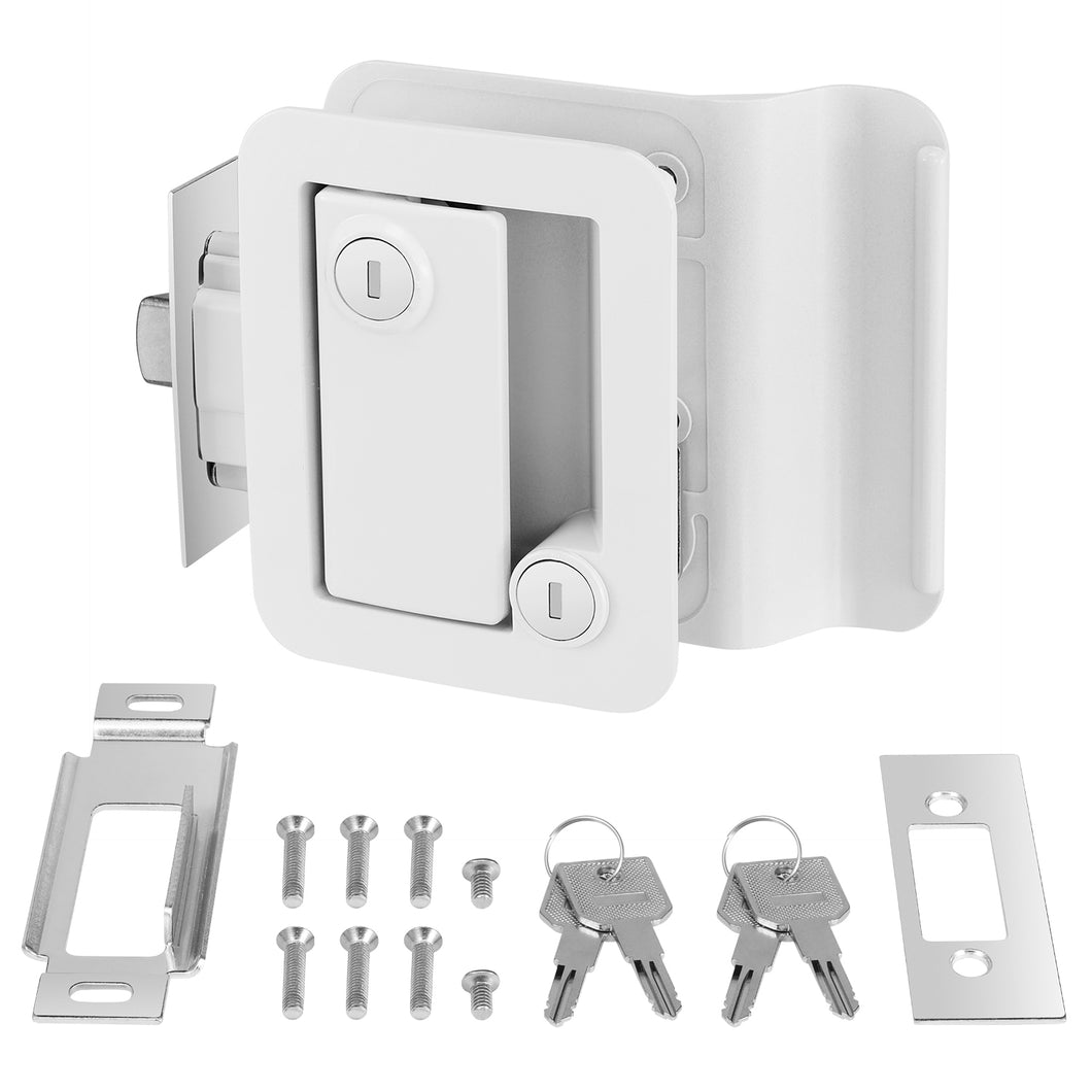 Kohree RV Travel Trailer Entry Door Lock with Paddle Deadbolt Fits Camper, Travel